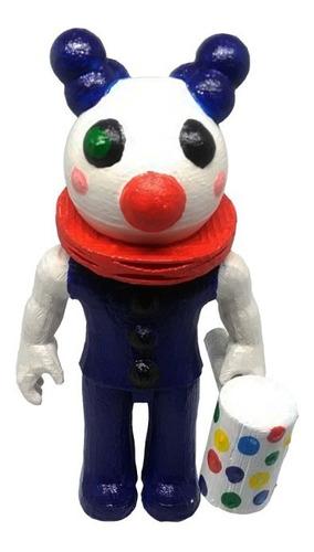 Clowny Piggy Roblox Figura Impresa 3d Pintada A Mano 11 Cms