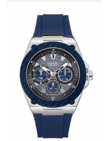 Relógio Guess Masculino Borracha Azul - W1049g1