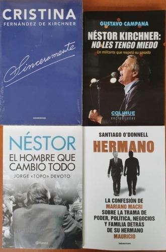 4 Libros Nestor Campana Devoto Hermano Macri Sinceramente
