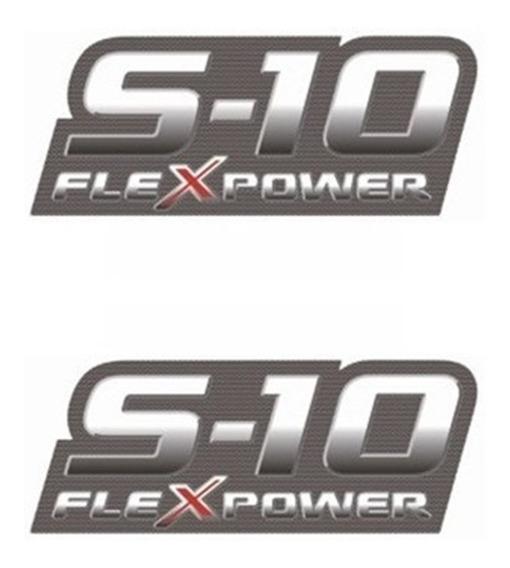 Par Adesivo Lateral Caçamba S10 Flex Power 2009 2010 2011