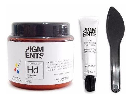 Kit Alfaparf Pigments Mascara Hidratante + Concentrado Color