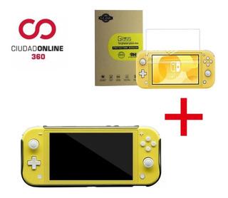 Kit X2 Funda Nintendo Switch Lite Acrilico + Vidrio Templado
