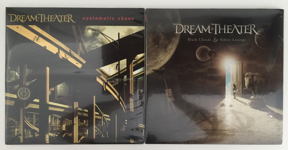 2 Lps Dream Theater Systematic Chaos Black Clouds & Silver