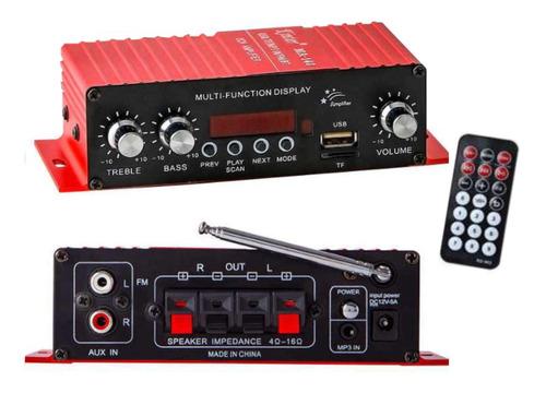 Amplificador 12 Volts Mp3 Bluetooth Radio Fm Usb