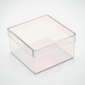 60 Caixinha De Acrilico 7x7 Transparente