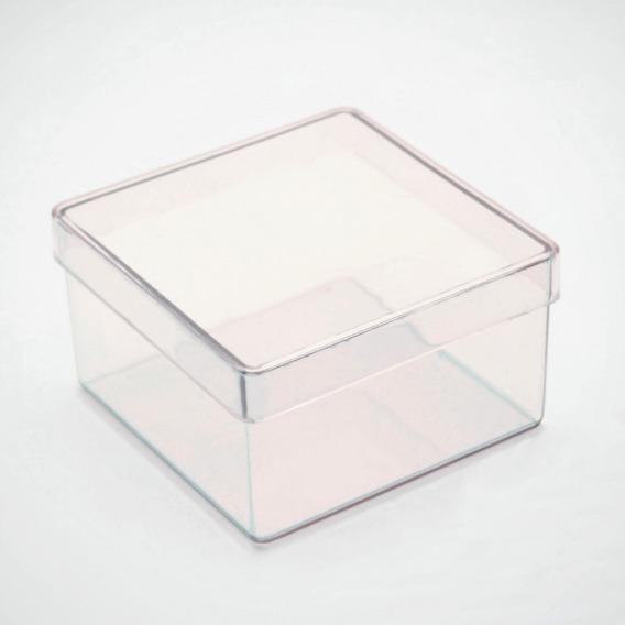 200 Caixinha De Acrilico 7x7 Transparente