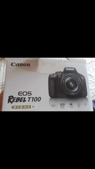 Câmera Digital Ios Rebel T100 Canon
