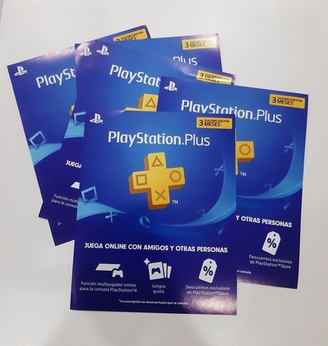 Tarjeta Playstation Plus 3 Meses Región Usa Ps3 Ps4 Psn