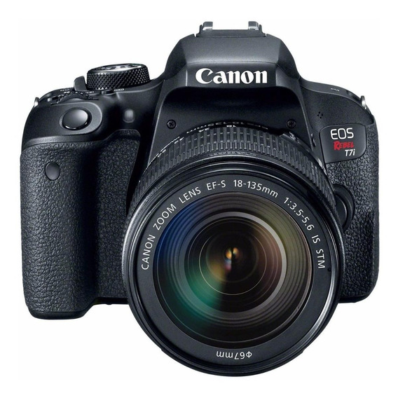 Canon EOS Rebel T7i 18-135mm IS STM Kit DSLR cor preto