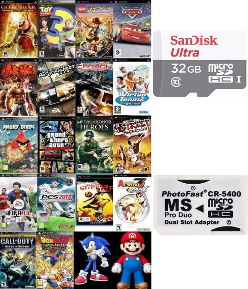 Cartão 32gb Sandisk (classe 10+) + 3000 Patch