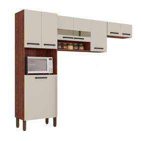 Cozinha Kits Paraná Turim Com 1 Paneleiro 2 Aéreos Mdp