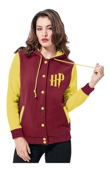 Jaqueta College Feminina Capuz Harry Potter Blusa De Frio
