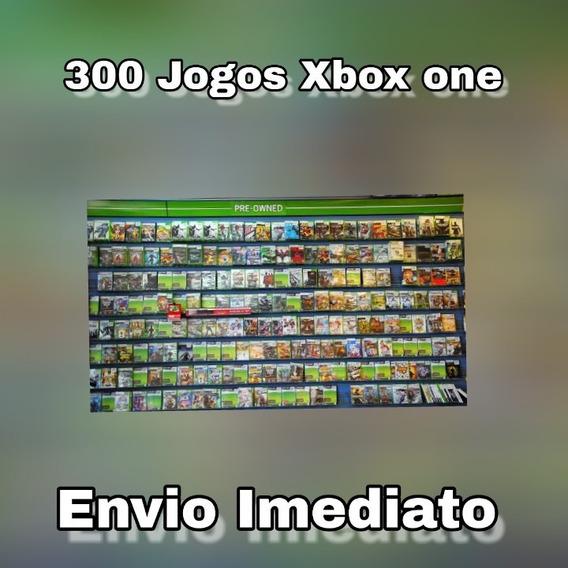 300 Jogos De Xbox One Midia Digial + Brinde Original