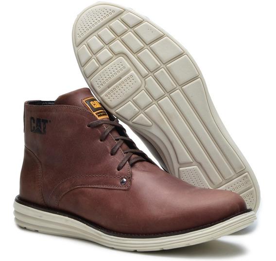 Sapato Bota Caterpillar Em Couro Legitimo Classic Conforto