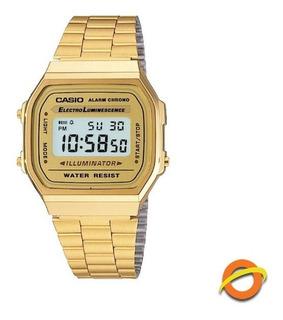 Reloj Casio A-168wg Digital Acero Inoxidable Cronometro
