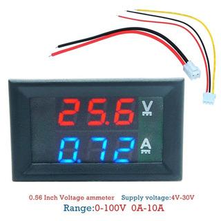 Voltímetro Y Amperimetro Digital Panel Led Azul + Rojo