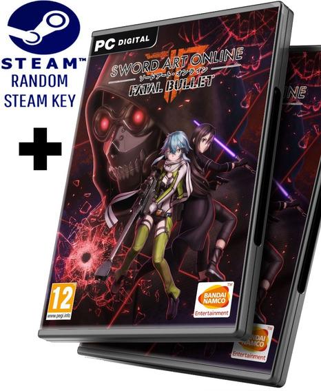 Random Steam Key + Sword Art Online Fatal Bullet Versión Deluxe - Juego Pc Windows + Regalo