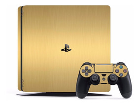 Adesivo Skin Vinil Completo Playstation 4 Preto +amarelo