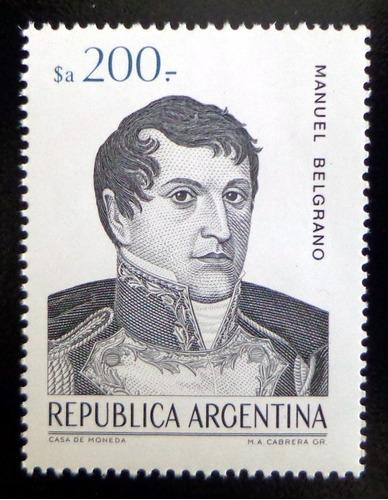 Argentina, Sello Gj 2149 M. Belgrano $a 200 84 Mint L9761