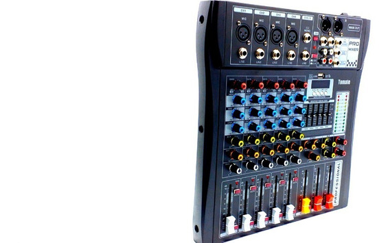 Mesa De Som 6 Canais Mixer Bluetooth Mp3 Player Digital Usb Tomate Tyt006