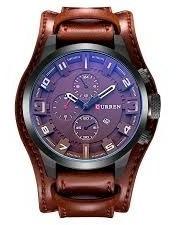 Relógio Masculino Luxo Social Couro