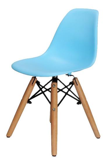 Kit 2 Cadeiras Eames Infantil Base Madeira - Frete Grátis