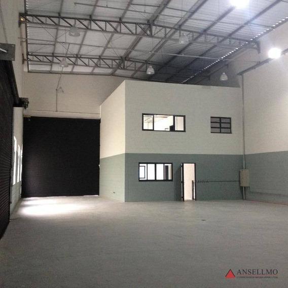 Galpão Para Alugar, 526 M² Por R$ 18.000/mês - Vila Valparaíso - Santo André/sp - Ga0354