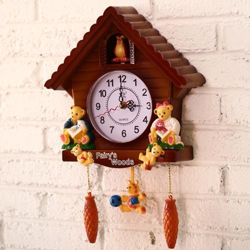 Imagen 1 de 5 de Reloj Antiguo De Cuco De Madera, Diseño De Pájaro, Campana D