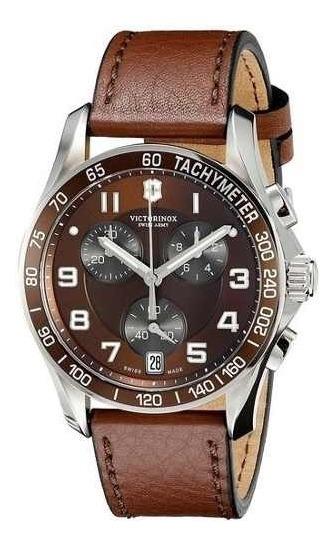 Relógio Victorinox 241498 Swiss Army Chrono Classic Couro