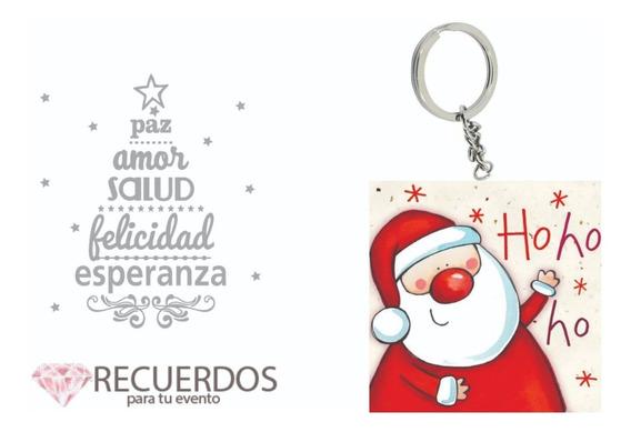 Recuerdo Navidad Llavero Santa Hoho Paquete 50 Piezas