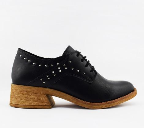 Zapato Savage Con Taco Separado Y Cordones