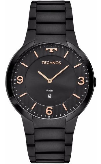 Relógio Technos Masculino Slim Gl15am/4p Preto Analogico