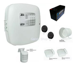 Kit Alarme Residencial Comercial Sem Fio 3 Sensores Discadora 2 Controles Sirene Bateria