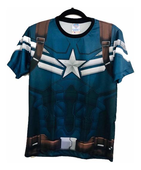 Camiseta Uniforme Capitão Ámerica 2