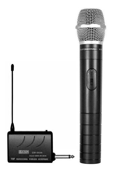 Microfone S/ Fio De Mão Vhf P/ Filmadora 2010 - Csr