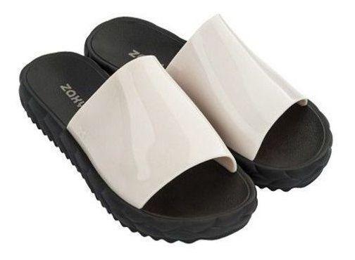 Rasteira Chinelo Feminino Zaxy Slide Branco Calçado Original