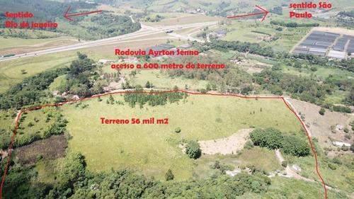 Terreno À Venda, 56000 M² Por R$ 2.900.000,00 - Chácaras Rurais De Guararema - Jacareí/sp - Te0365