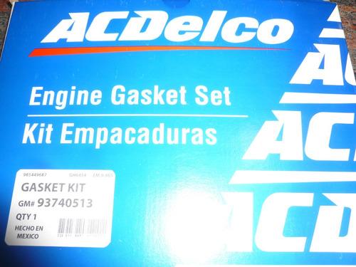 Juego Empacaduras Aveo 1.6 Acdelco 93740513 Un Ovalo/amianto