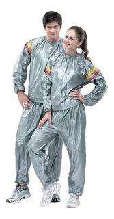 Traje Sauna Suit Quema Calorias Ejercicios Fitness Plateado