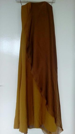 Bello Vestido De Fiesta Largo Diseñador Pavel Mieses
