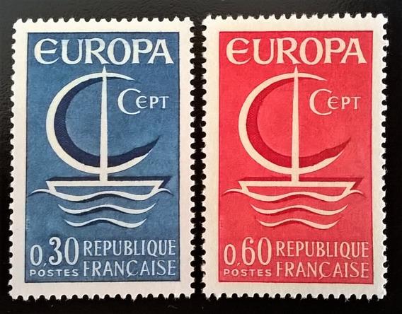 Francia, Serie Yv. 1490-91 Europa 1966 Mint L13440