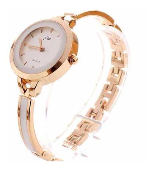 Relógio Feminino Pulso Caixa Dourado Em Promoção Exclusivo