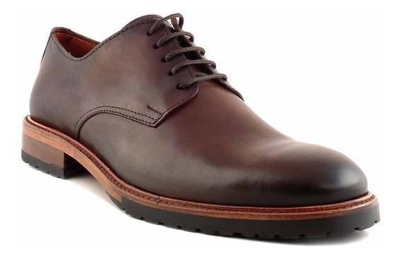 Zapato Hombre Acordonado Cuero Briganti De Goma - Hcac00863