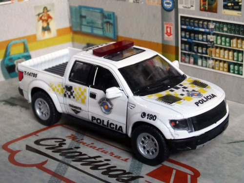 Miniatura Picape Trânsito Polícia Militar Pm Sp Viatura