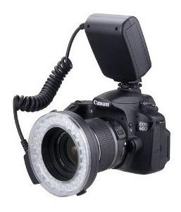 Flash Circular Macro Led Xt-103c Canon Nikon Sony Fuji
