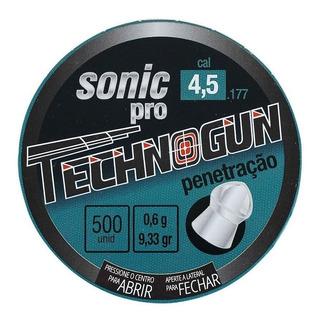 Kit C/ 3 Chumbinho Technogun Sonic Pro 4.5 M 500 Uni