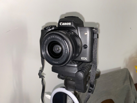 Canon Eos M50 15-45mm Is Stm Kit Mirrorless Preta 2 Baterias