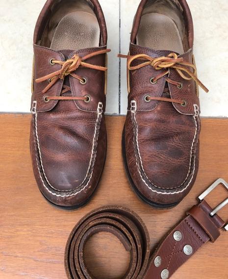 Zapatos Polo Ralph Lauren Color Burgundy Talla 31 Mex