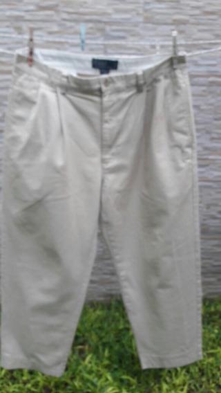 Pantalon Hombre Ralp Lauren. T.33/34. Gabardina Algodon 100