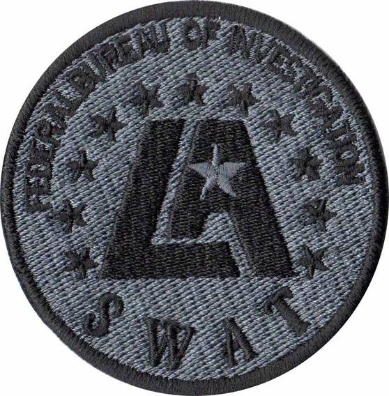 Patch Bordado - Policia Fbi Los Angeles Hollywood Pl60186
